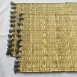 LOLA placemat with tassel - set of 2 gray