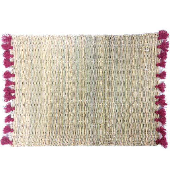 LOLA placemat with tassels RED