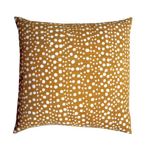 DOTS MUDCLOTH pillow cover large YELLOW