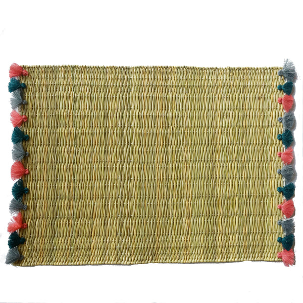 LOLA placemat with tassels NANTUCKET