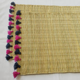 LOLA placemat with tassel - set of 2 NAVY BERRY