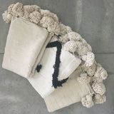 ASSIA throw - cream/gold