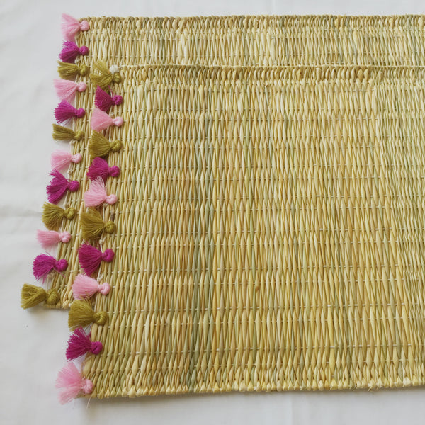 LOLA placemat with tassels OJAI