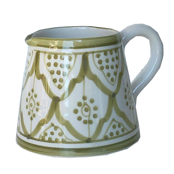 MILK pitcher OLIVE