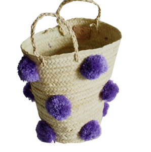 OTHELLO pompom basket LILAC