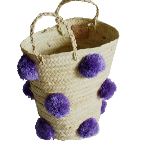 OTHELLO pompom basket - lilac