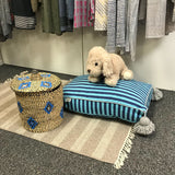 MARTHA small PET BED - navy/turquoise/gray