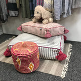 small PET BED - blush/taupe/pink