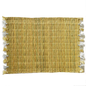 LOLA placemat with tassels GOLD/SILVER