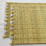 LOLA placemat with tassel - set of 2 GOLD & SILVER