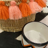 SEVERINE tassel basket small - sunset