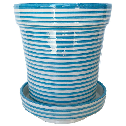 BULLSEYE planter medium TURQUOISE
