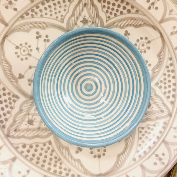 BULLSEYE SALAD BOWL set of 4 TURQUOISE