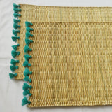 LOLA placemat with tassel - set of 2 TURQUOISE
