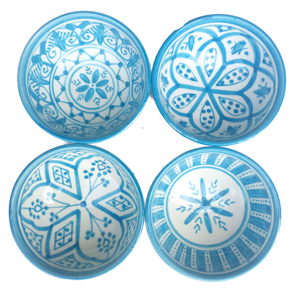 SAFI TAPAS bowl set of 4 TURQUOISE