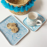 SAFI appetizer tray - turquoise