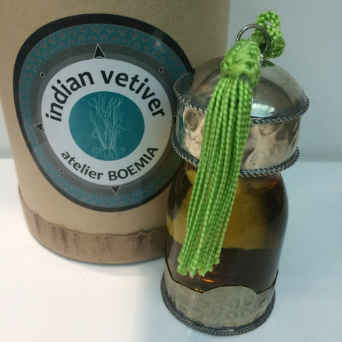 VETIVER essential oil bottle
