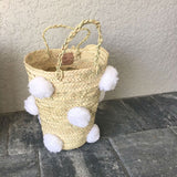 OTHELLO pompom basket - white