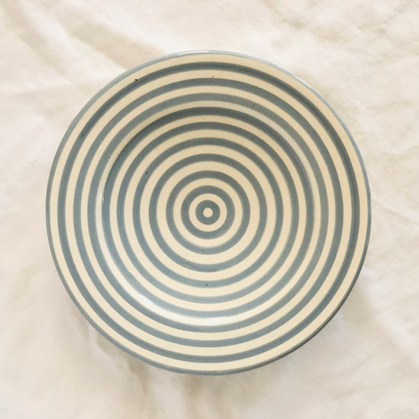BULLSEYE APPETIZER plates set of 4 GRAY