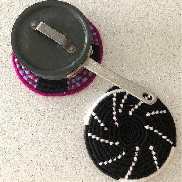 wool TRIVET - BLACK/WHITE