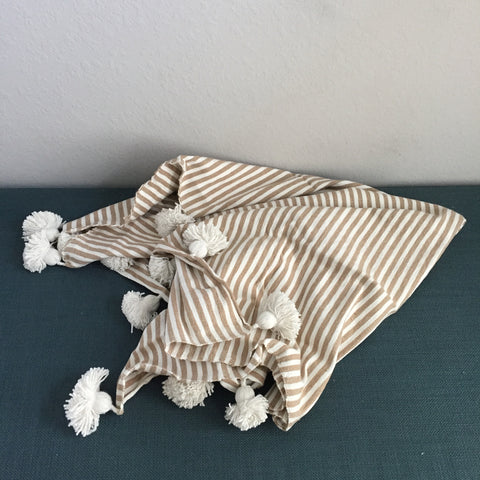 IRIS throw - beige/white/white