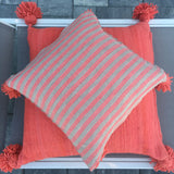 BETSY medium pompom pillow cover - coral beige