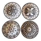 SAFI appetizer plate - set of 4 black