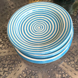 BULLSEYE appetizer plate - set of 4 turquoise