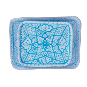 APPETIZER TRAY medium TURQUOISE