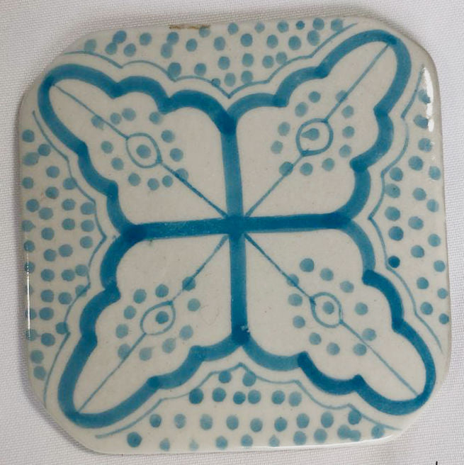 CLOVER coaster TURQUOISE