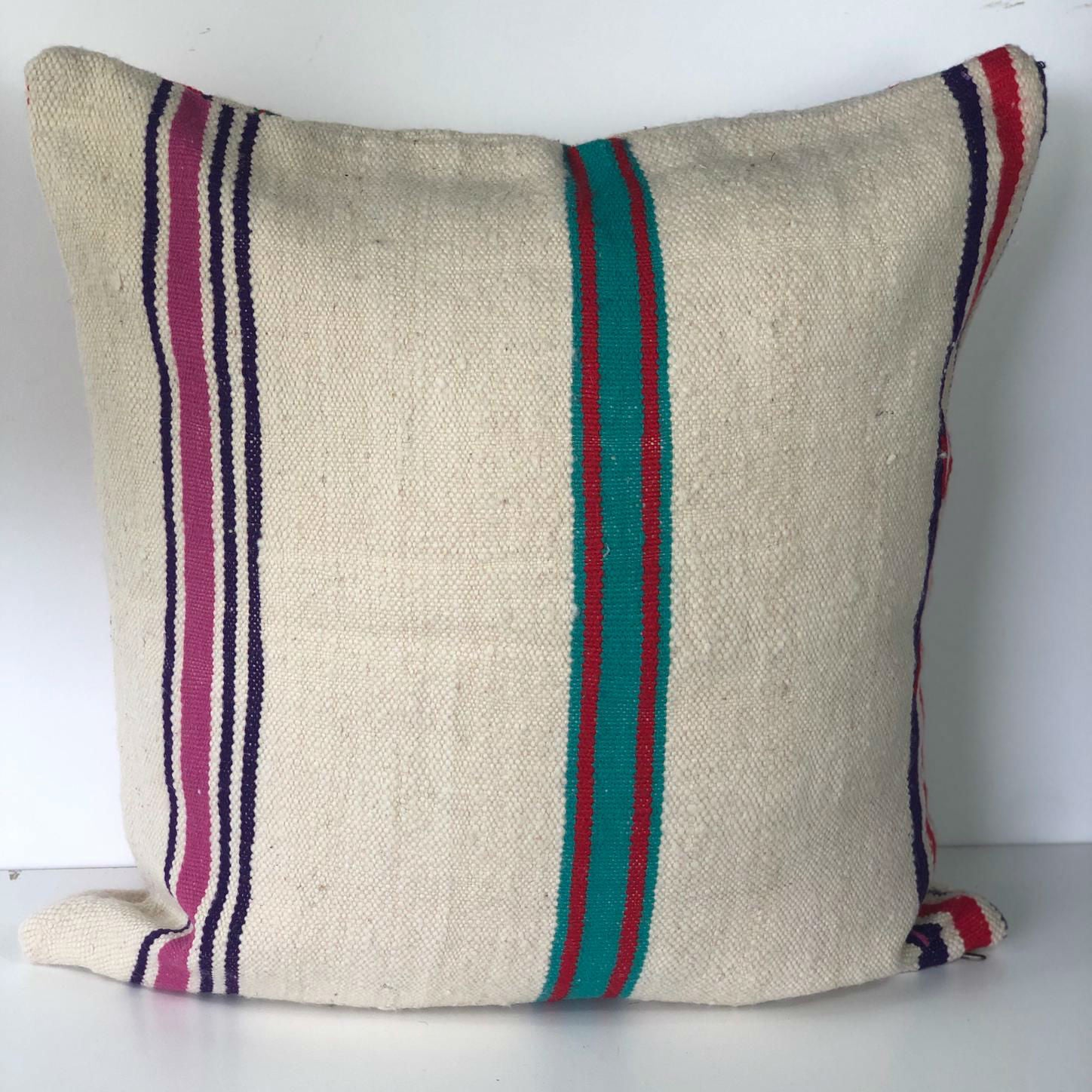 COCO vintage blanket pillow cover