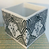 CUBIC porcelain planter - black