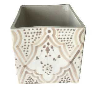 CUBIC planter GRAY
