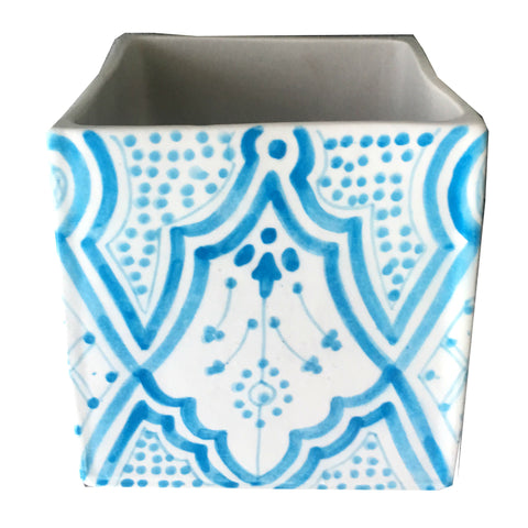 CUBIC planter TURQUOISE