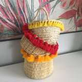 SEVERINE tassel basket small - red