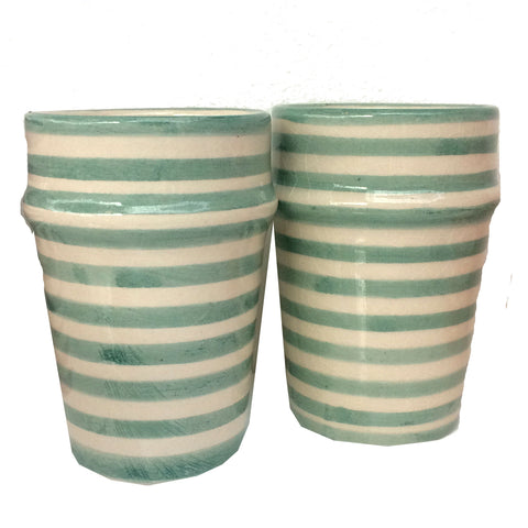 BULLSEYE Bell & Dee cups - set of 2 celadon green