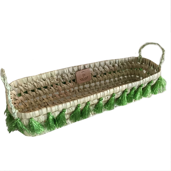 BREAD basket GREEN METALLIC