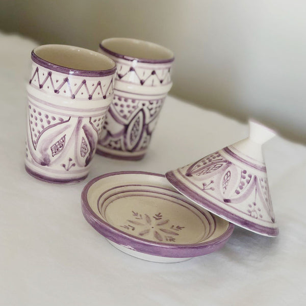 SAFI BELL & DEE cups set of 2 LILAC