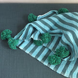 ASSIA throw - blue/teal/green