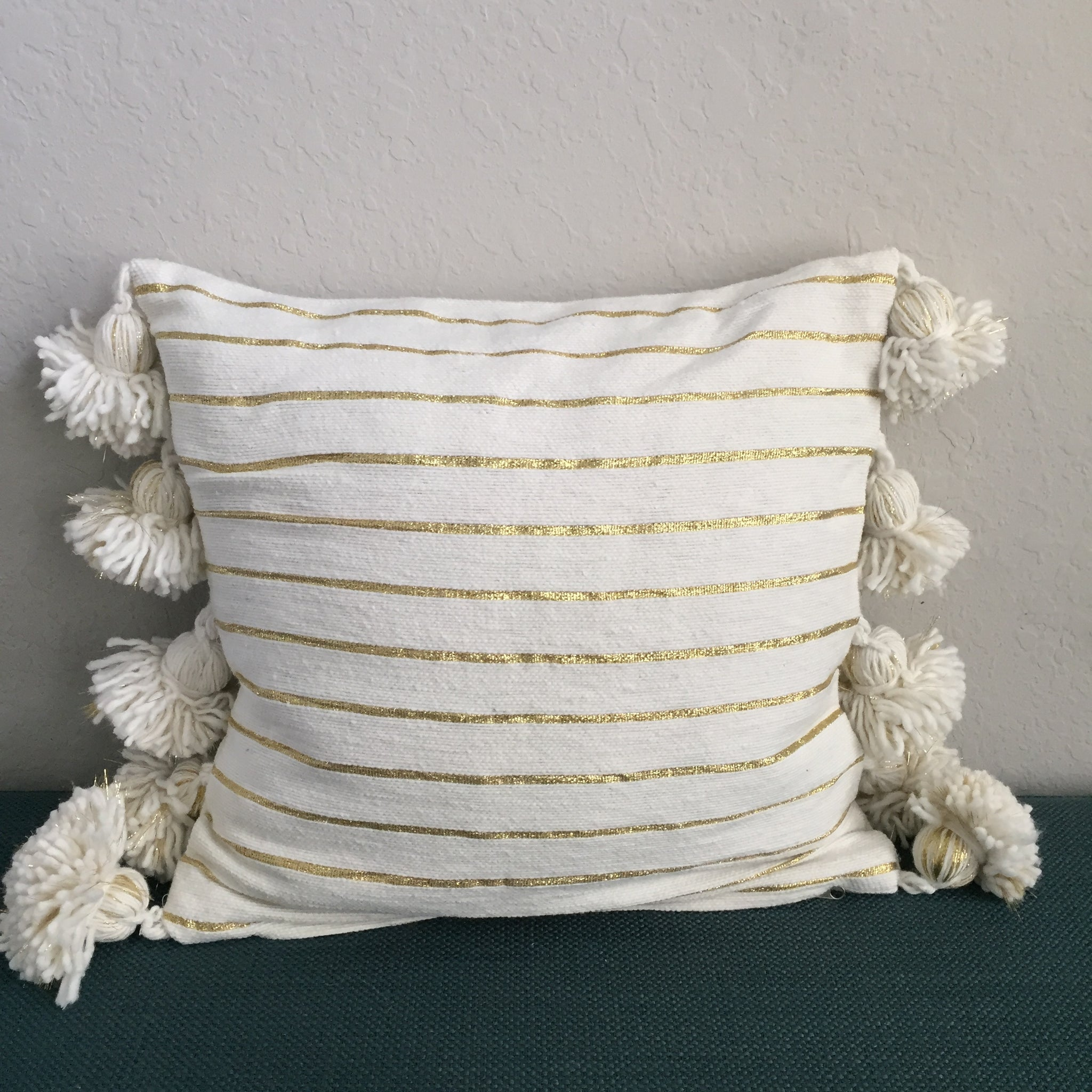 LINA pillow cover CREAM/GOLD/CREAM