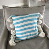 LINA pillow cover - blue/white/gold