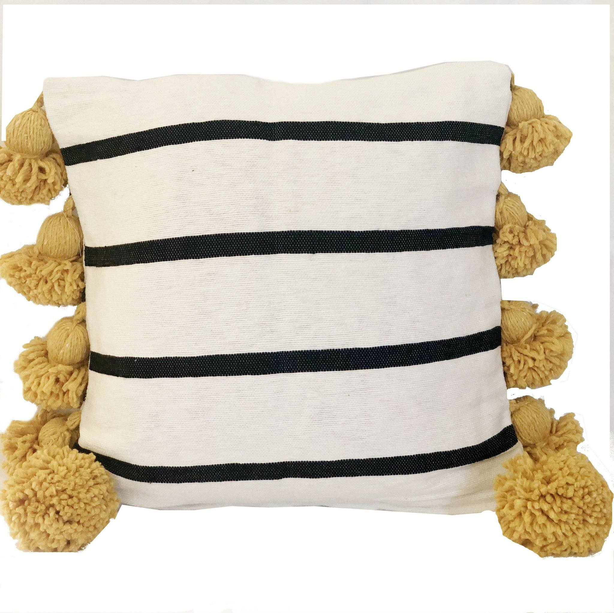 LINA pillow cover WHITE/BLACK/SAFFRON