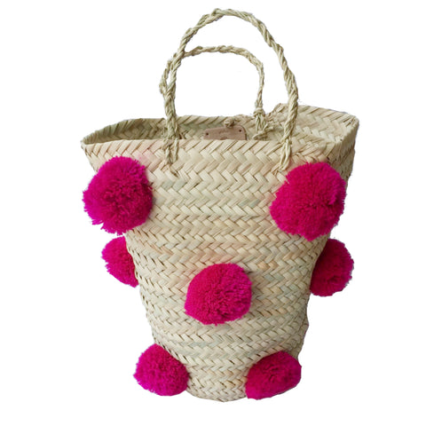 OTHELLO pompom basket - fuchsia