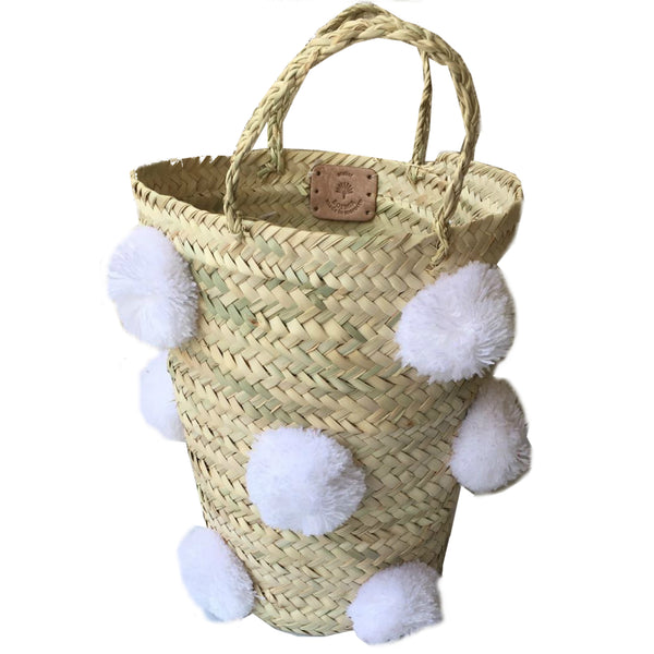 OTHELLO pompom basket WHITE