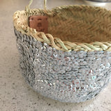 small Moroccan SEQUIN basket