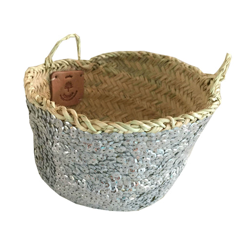small SEQUIN basket