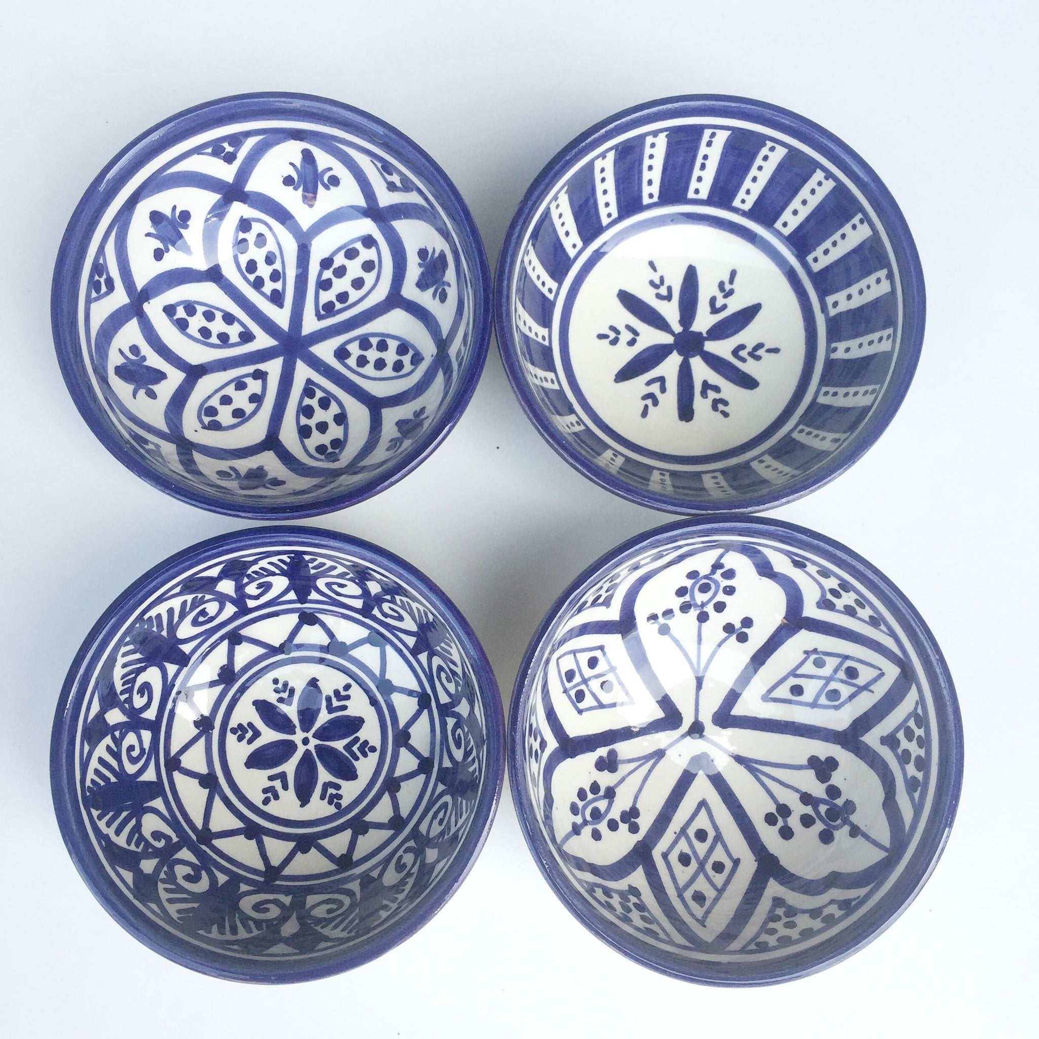 SAFI TAPAS bowl set of 4 NAVY