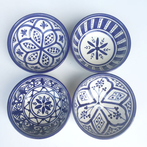 TAPAS bowl - set of 4 royal blue