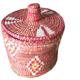 TOY large woven basket - pink
