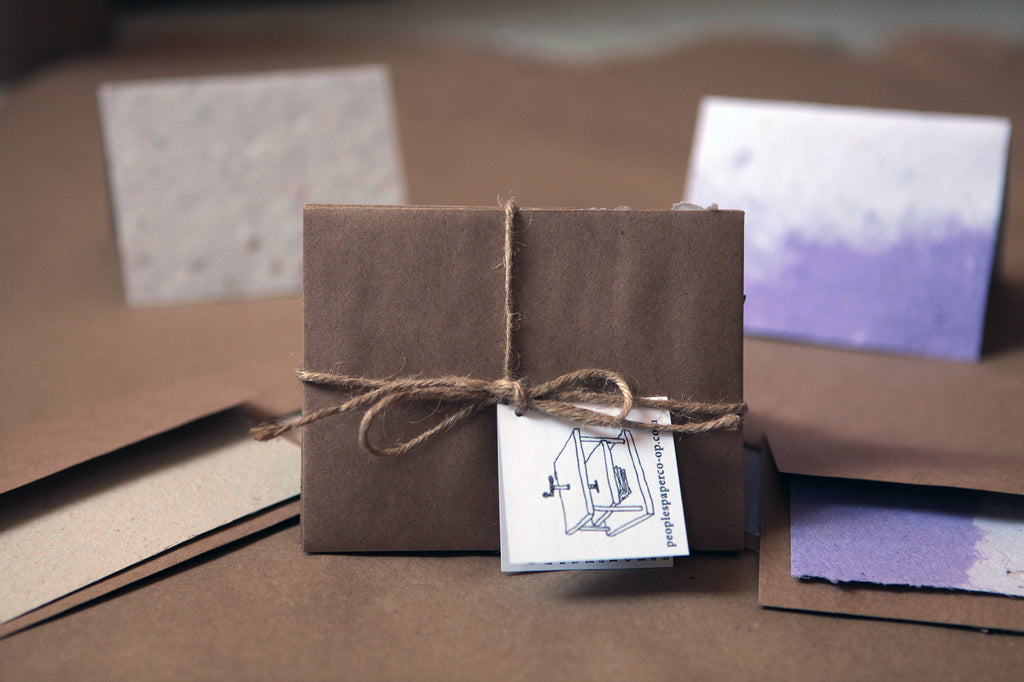 Set of 5 handmade paper cards